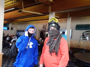 Who are those masked scouts at Sugarloaf?