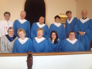The choir at the Cherryfield Congregational Church.
