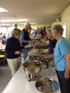 Since we have been serving buffet style, we can be more efficient with fewer helpers.