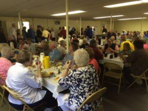 Church Supper - crowd